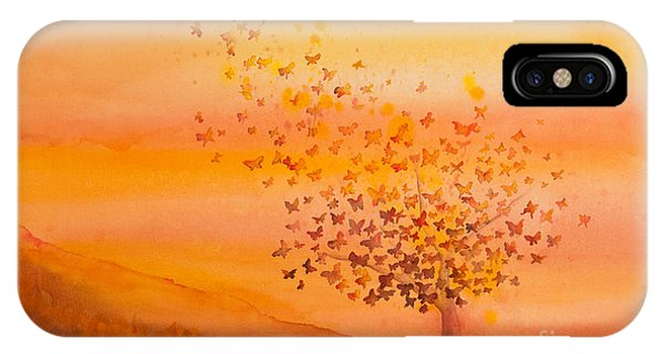 Insect iPhone Case - Soul Freedom Watercolor Painting by Michelle Constantine