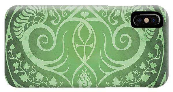 Soul Mates - Green Phone Case by Cristina McAllister