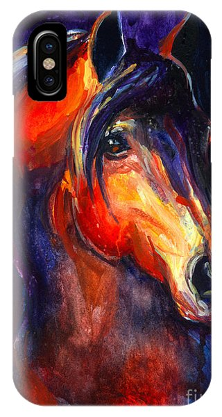 Wild Horses iPhone Case - Soulful Horse Painting by Svetlana Novikova