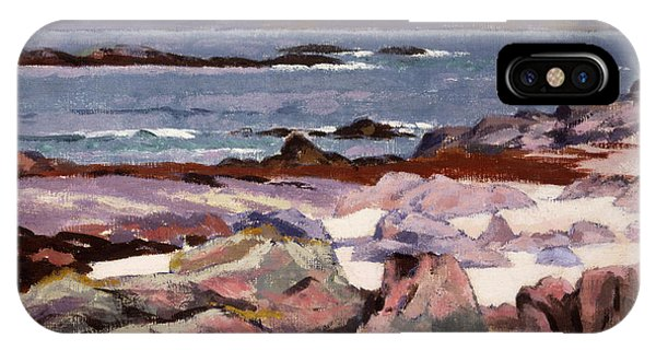 Sound Of Iona  The Burg From The North Shore IPhone Case