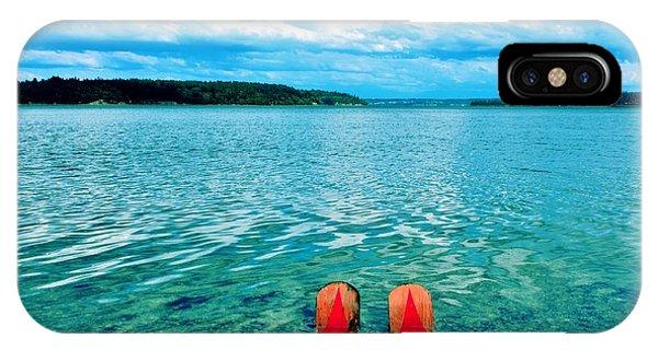 Water Ski iPhone Case - Sound Skiing by Benjamin Yeager
