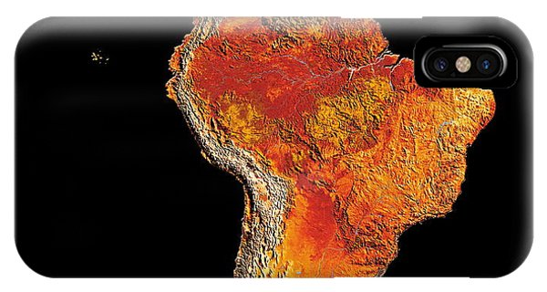 South Pacific Ocean iPhone Case - South America by Dynamic Earth Imaging/science Photo Library