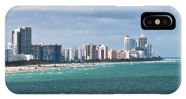 South Beach On A Summer Day IPhone Case