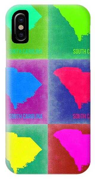 Carolina iPhone Case - South Carolina Pop Art Map 2 by Naxart Studio
