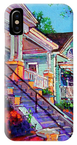 Porch iPhone Case - South Glenwood Stairs by Dan Nelson
