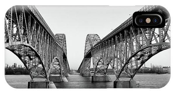 Ironwork iPhone Case - South Grand Island Bridges, New York by Panoramic Images
