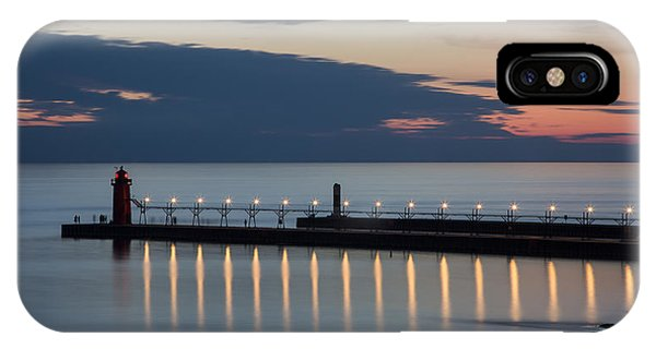 South Haven Michigan Lighthouse IPhone Case