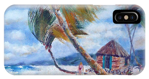 South Pacific Hut IPhone Case