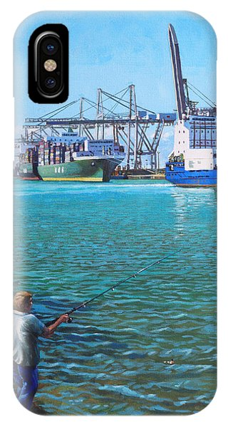 Southampton Western Docks Container Terminal As Seen From Marchwood IPhone Case