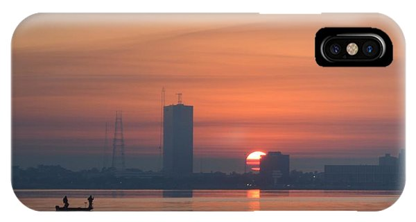Southern City Sunrise Phone Case by Eileen Corbel