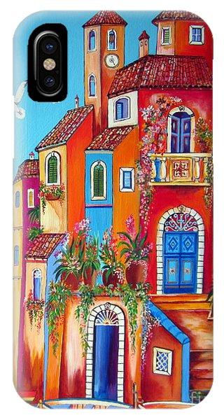 Southern Italy Amalfi Coast Village IPhone Case