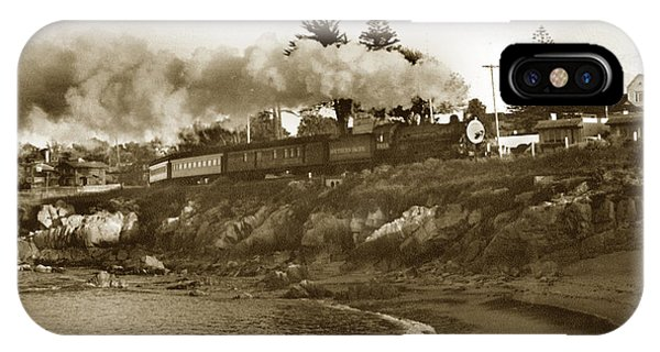 Southern Pacific Del Monte Passenger Train Pacific Grove Circa 1954 IPhone Case