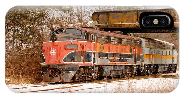 IPhone Case featuring the photograph Southern Railroad Of New Jersey Locomotive by Kristia Adams
