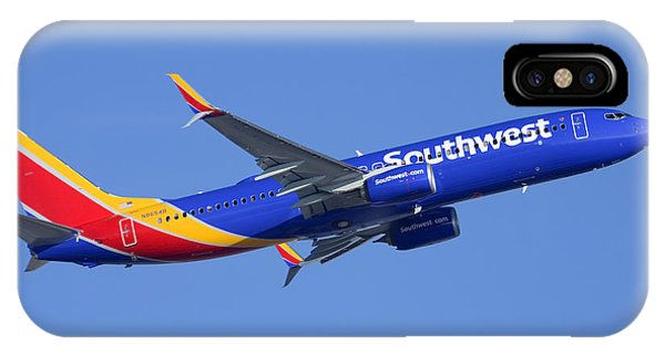 Southwest Boeing 737-8h4 N8654b Phoenix Sky Harbor December 22 2014 IPhone Case