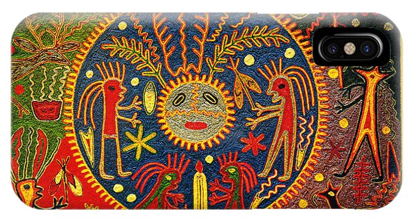 Southwest Huichol Del Sol IPhone Case