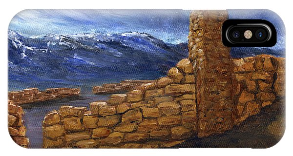 Southwestern Night Landscape Rock Ruins IPhone Case
