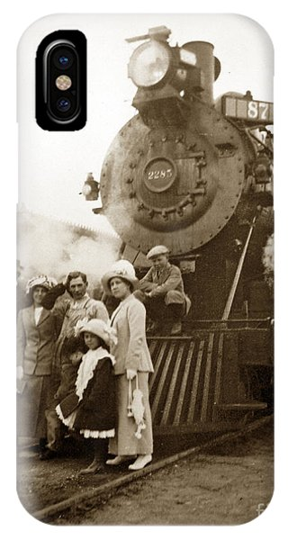 S P Baldwin Locomotive 2285  Class T-26 Ten Wheel Steam Locomotive At Pacific Grove California 1910 IPhone Case