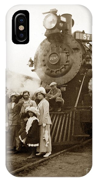 S P Baldwin Locomotive 2285  Class T-26 Ten Wheel Steam Locomotive At Pacific Grove California 1910 IPhone Case