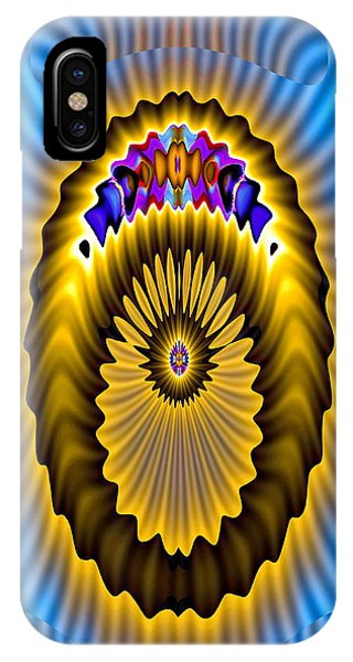 IPhone Case featuring the digital art Space Ion by Visual Artist Frank Bonilla