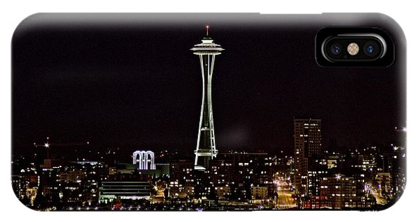 Space Needle At Night Phone Case by Marv Russell