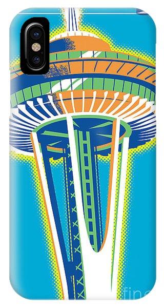1960s iPhone Case - Space Needle Pop Art by Jim Zahniser