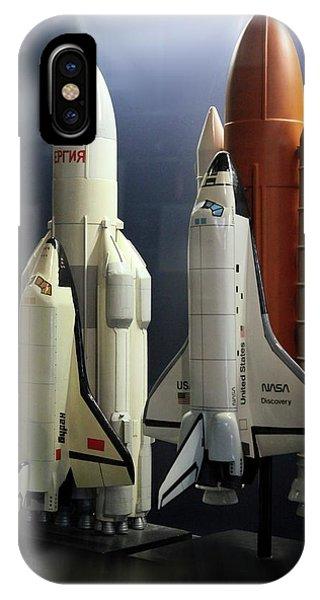 Spaceflight iPhone Case - Space Shuttle And Buran Spacecrafts by Detlev Van Ravenswaay