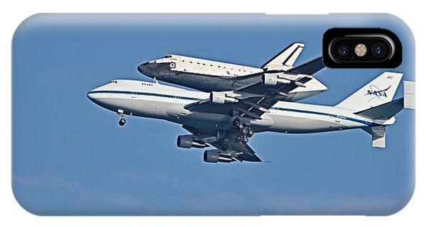 Space Shuttle Atlantis Piggybacked On 747 IPhone Case