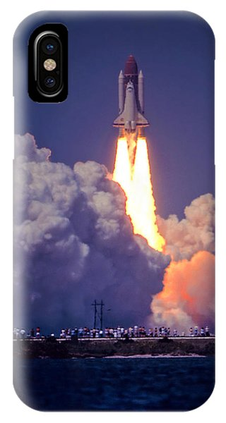 Space Shuttle Challenger Sts-6 First Flight 1983 Photo 1  IPhone Case