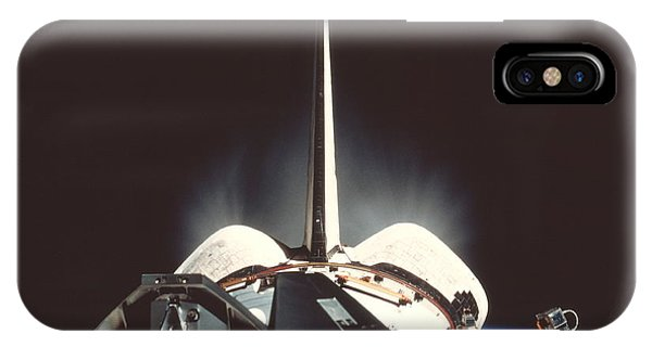 International Space Station iPhone Case - Space Shuttle Iss Manoeuvres by Nasa/science Photo Library