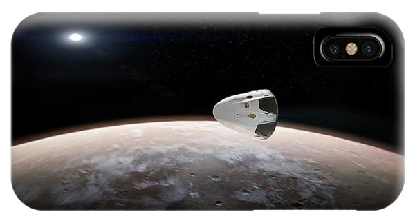 Spacex's Red Dragon At Mars Phone Case by Spacex/science Photo Library