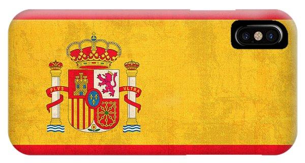 Spain Flag Vintage Distressed Finish IPhone Case
