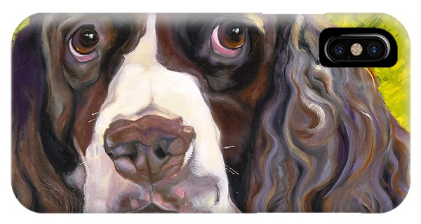 Spaniel The Eyes Have It IPhone Case