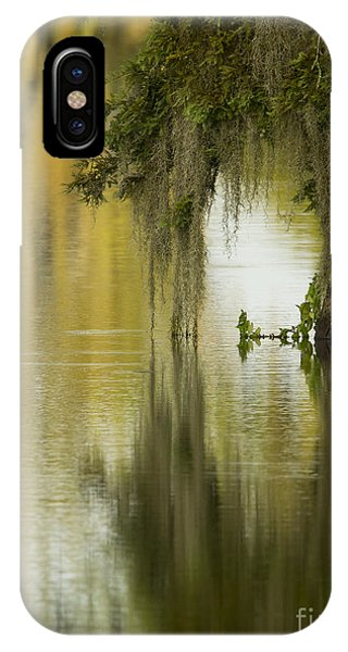 Spanish Moss Reflections Phone Case by Kelly Morvant