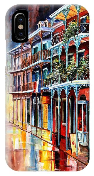 Aqua iPhone Case - Sparkling French Quarter by Diane Millsap