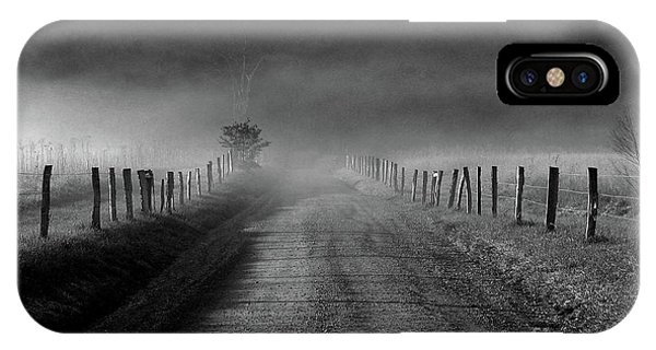 Sparks Lane In Black And White IPhone Case