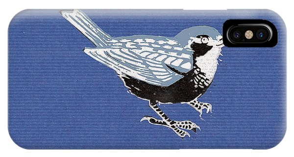 Sparrow, 2013 Woodcut IPhone Case