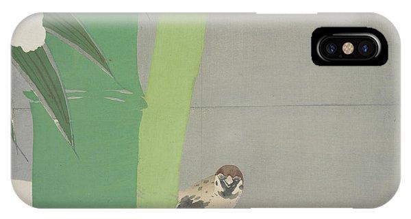 Vibrant iPhone Case - Sparrow And Bamboo., Kamisaka, Sekka, Artist by Artokoloro