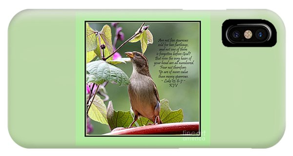 Sparrow Inspiration From The Book Of Luke IPhone Case