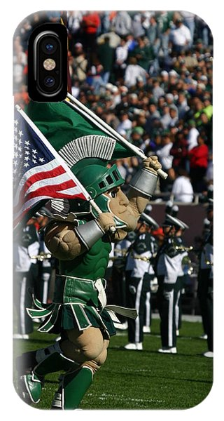 Sparty At Football Game IPhone Case