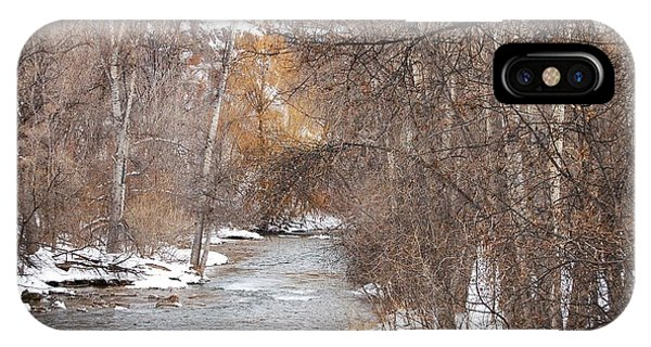 Spearfish Creek In Winter IPhone Case