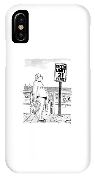 Speedo Limit  21 Years IPhone Case