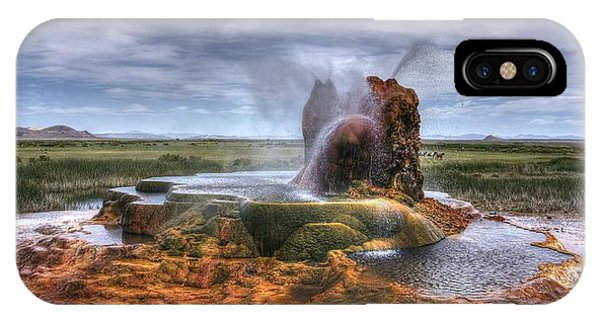 Spewing Minerals At Fly Geyser IPhone Case