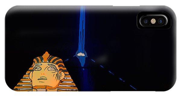 Beam iPhone Case - Sphinx And Luxor Hotel Beam Las Vegas - Pop Art Style by Ian Monk