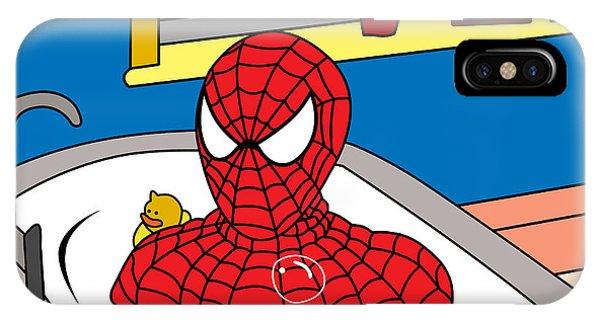 Superhero iPhone Case - Spiderman  by Mark Ashkenazi