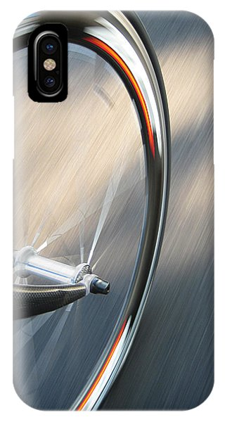 Bicycle iPhone X Case - Spin by Jeff Klingler