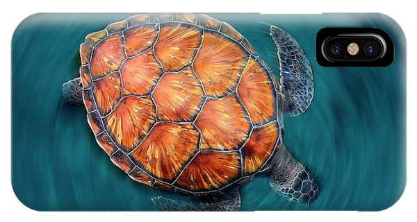 Spin Turtle IPhone Case