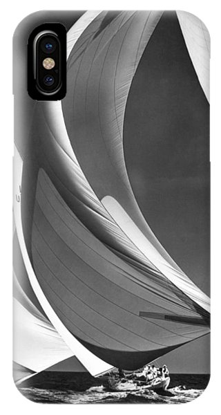 Spinakers On Racing Sailboats IPhone Case