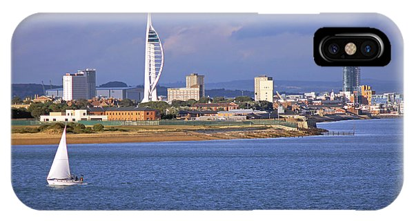 Spinnaker Tower And Gunwharf Quays IPhone Case