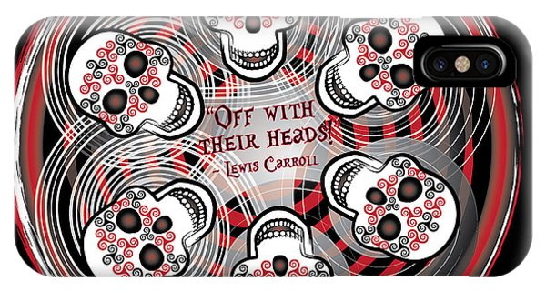 Spinning Celtic Skulls IPhone Case