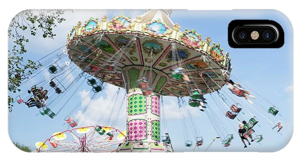 Funfair iPhone Case - Spinning Chair Ride At A Funfair by Cordelia Molloy/science Photo Library